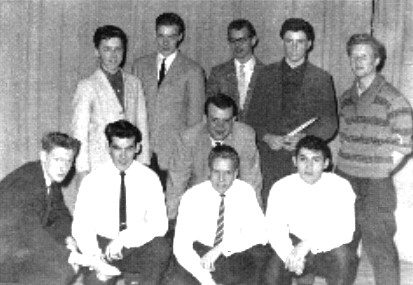 On stage at George Harvey Secondary School - 1962